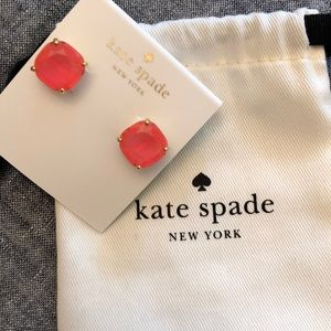 Hot Pink Kate Spade Rectangle Stud Earrings